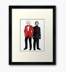Doctor Who - Third Doctor and The Master Framed Print