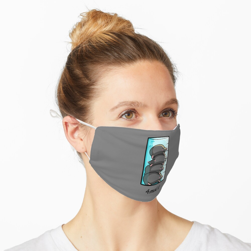 4 Moles Per Litre Chemistry Science Joke Mask