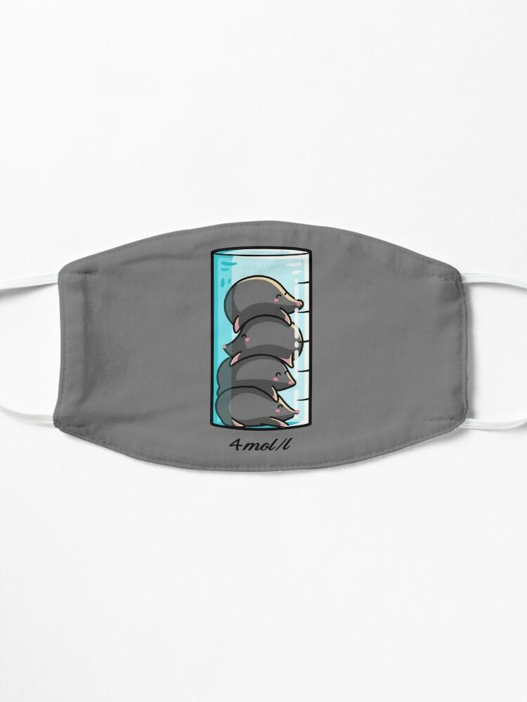 Alternate view of 4 Moles Per Litre Chemistry Science Joke Mask