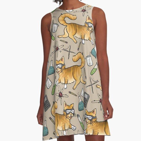 STEM Cats A-Line Dress