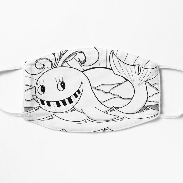 Piano Fish Flat Mask