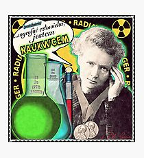 Popular Science: M. Curie (Polish) Photographic Print