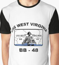 USS West Virginia (BB-48) Crest Graphic T-Shirt