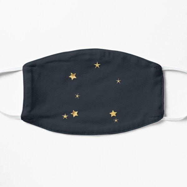 Libra Golden Stars Constellation Flat Mask