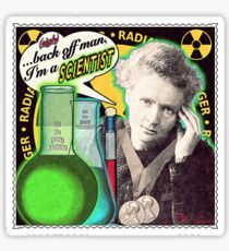 Popular Science: M. Curie (English) Sticker