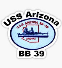 USS Arizona (BB-39) Crest Sticker