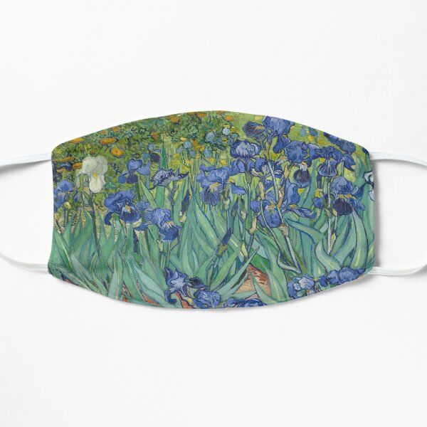 Van Gogh Irises Flat Mask