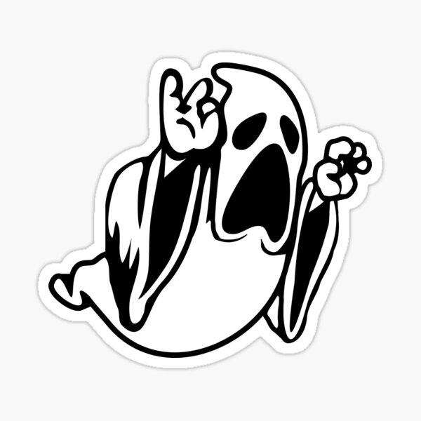 Ghost from Spelunky Sticker