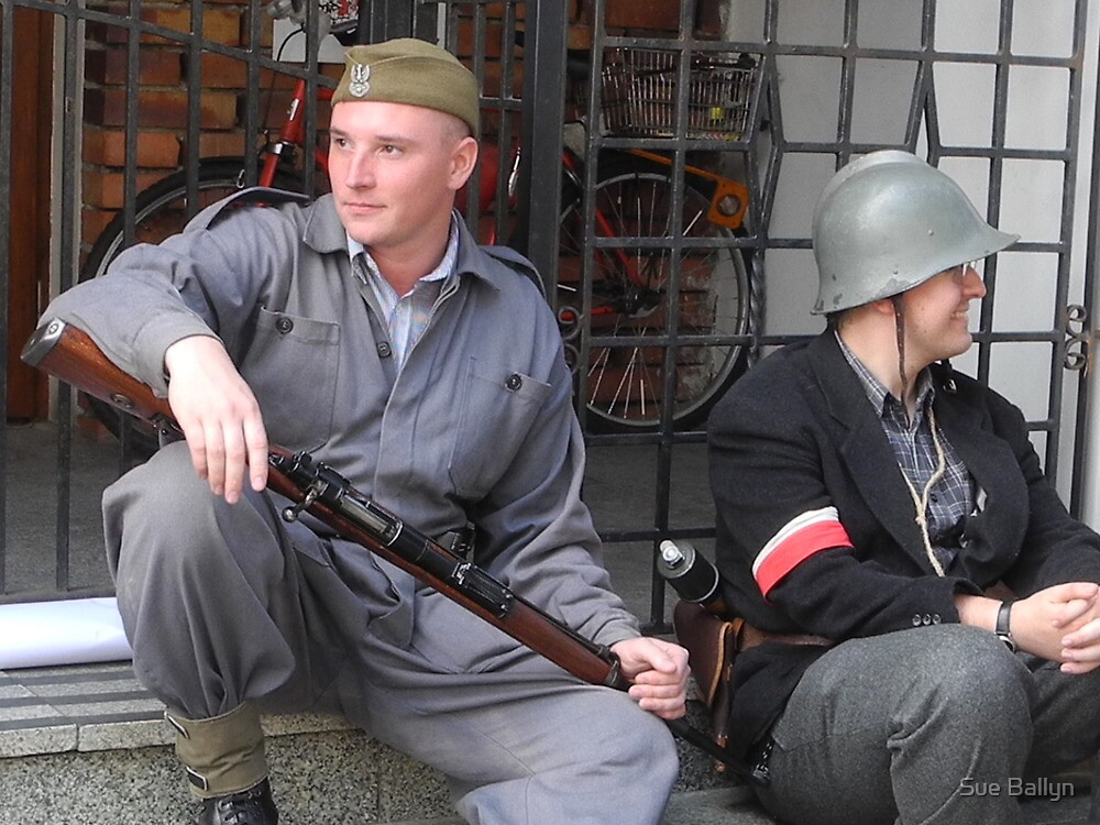 Renactment Warsaw Uprising by Sue Ballyn