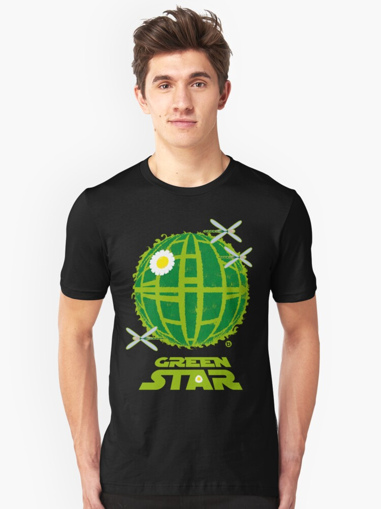 Green Star-TShirt by Alain Bossuyt