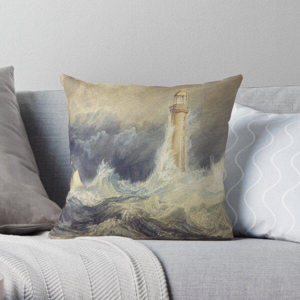 Bell Rock Lighthouse - J. M. W. Turner Throw Pillow