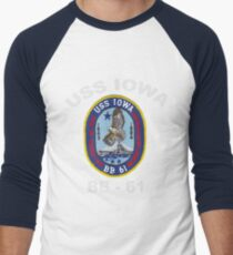 USS Iowa (BB-61) for Dark Colors Men's Baseball ¾ T-Shirt