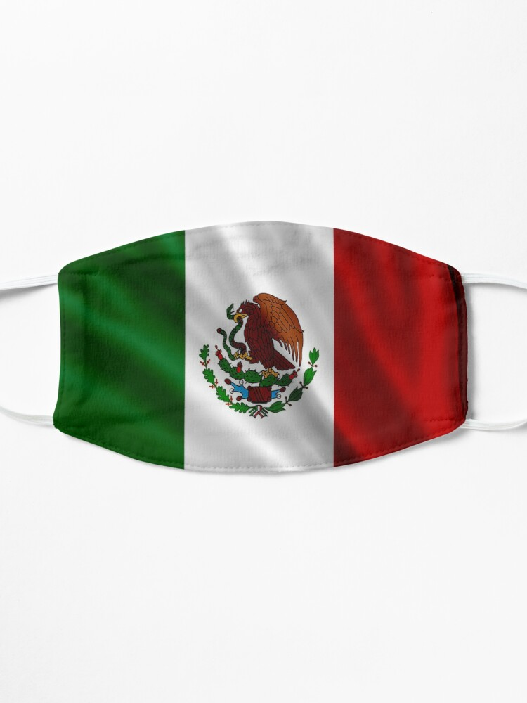 Alternate view of Mexico Flag Mask Mask