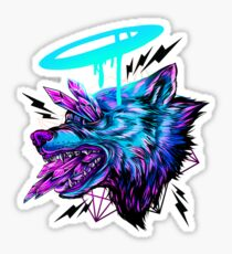 Crystal Wolf  Sticker