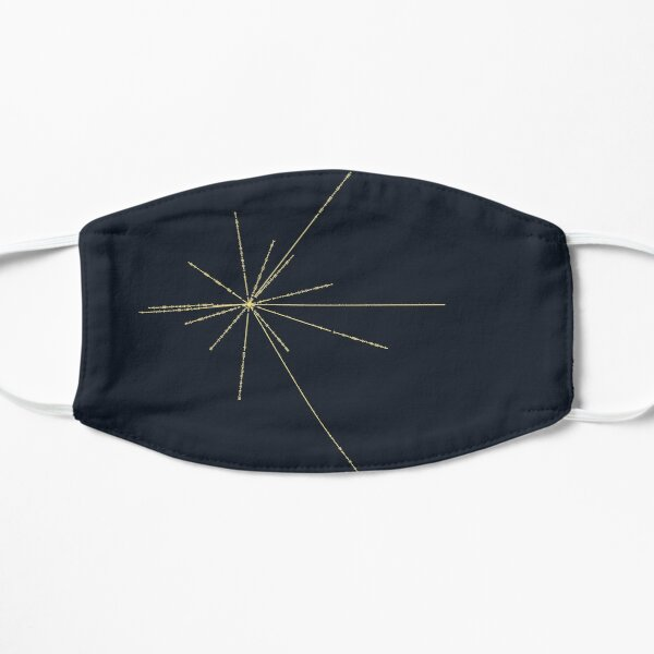 Space Exploration Pulsar Map Voyager Flat Mask