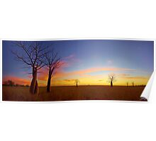 The Kimberley Plains Sunset Poster