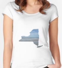 NY ocean Women's Fitted Scoop T-Shirt