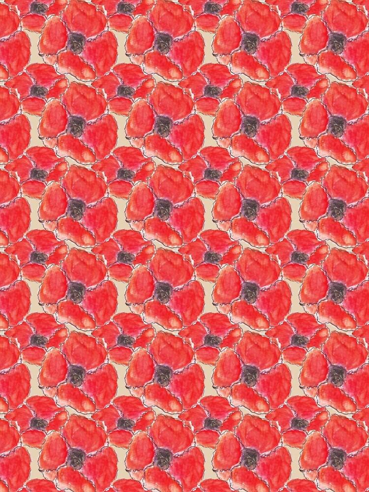 Watercolour Poppies (Hand Painted Design) by ClareWalkerArt