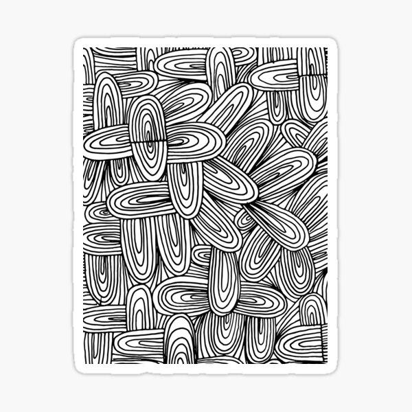doodle patterned Sticker
