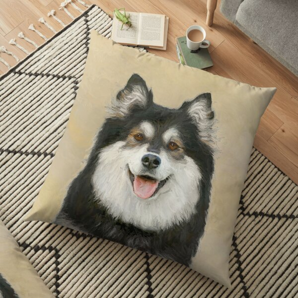 Finnish Lapphund Floor Pillow