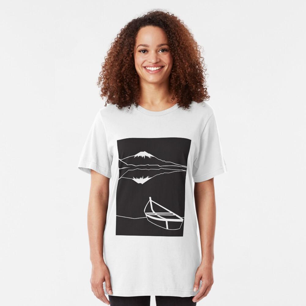 Mount Fuji night Slim Fit T-Shirt