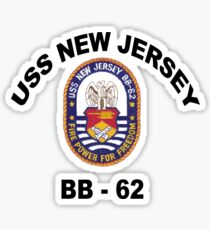 USS New Jersey (BB-62) Crest Sticker