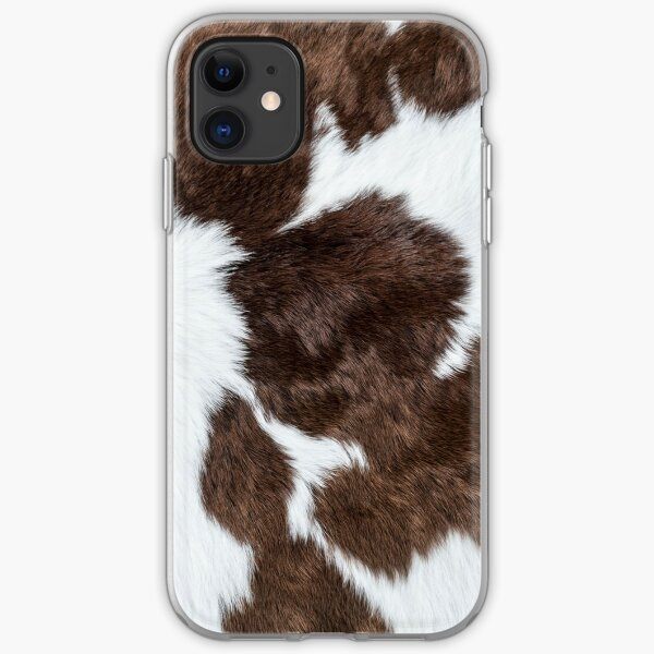 Cowhide Patch iPhone Soft Case