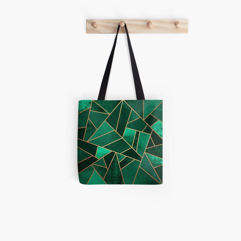 Smaragd und Kupfer Stofftasche