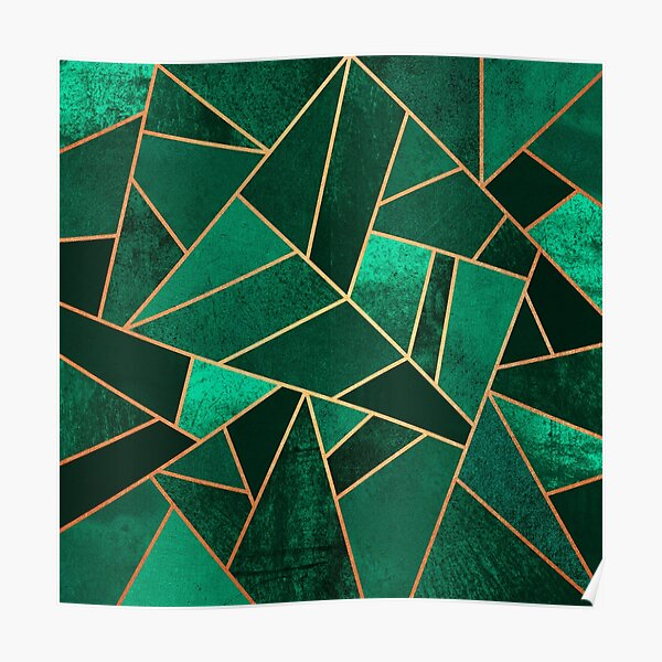 Emerald and Copper Poster