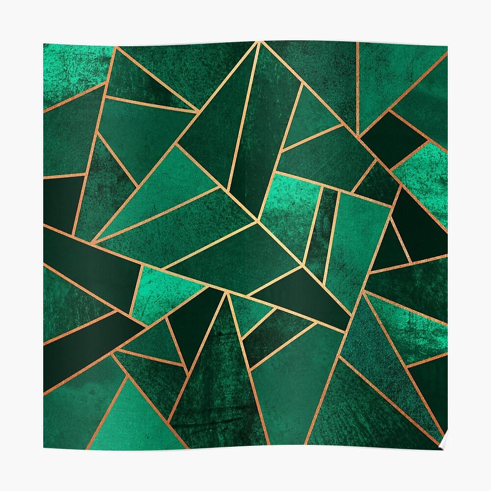 Smaragd und Kupfer Poster