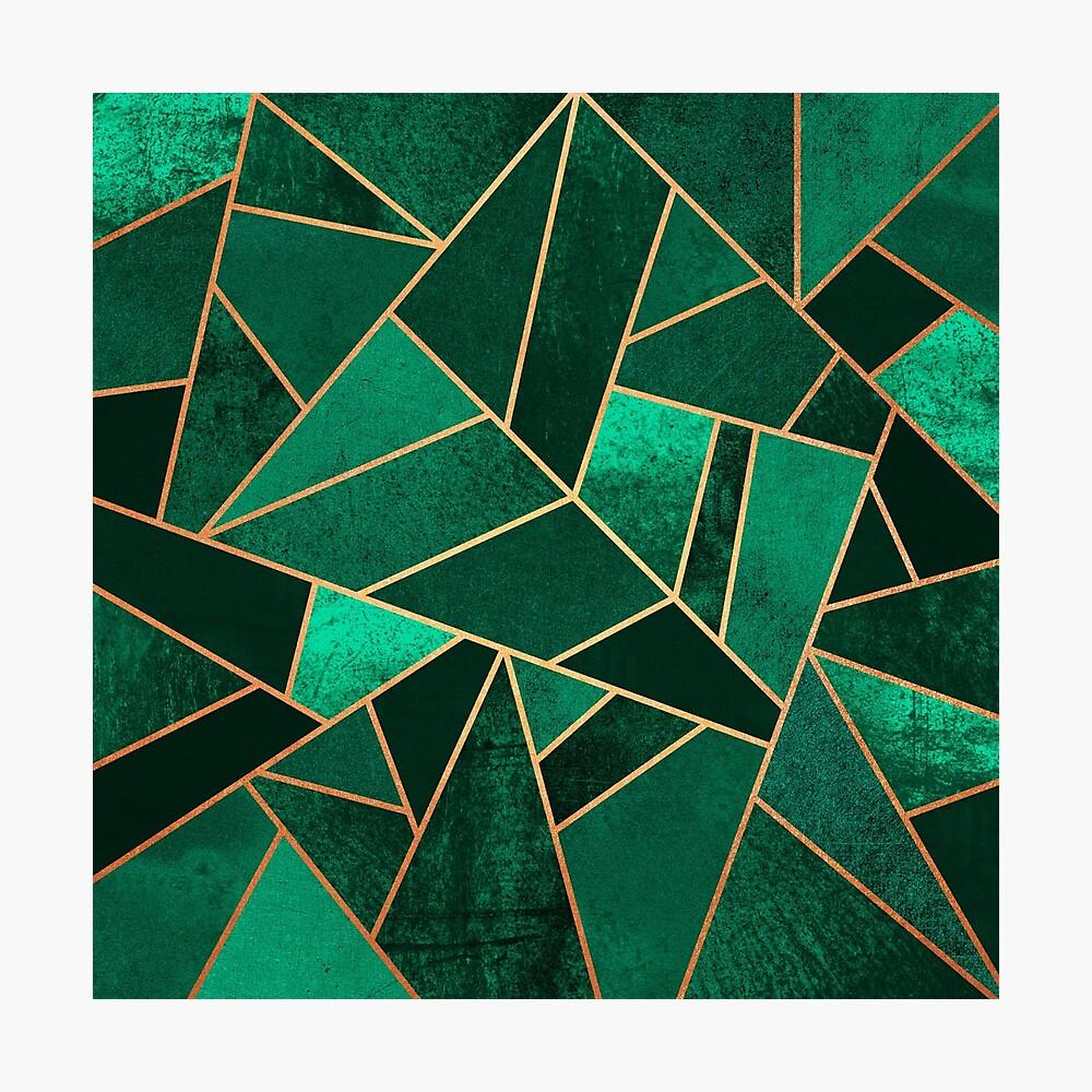 Smaragd und Kupfer Fotodruck