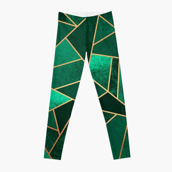 Emerald and Copper Leggings