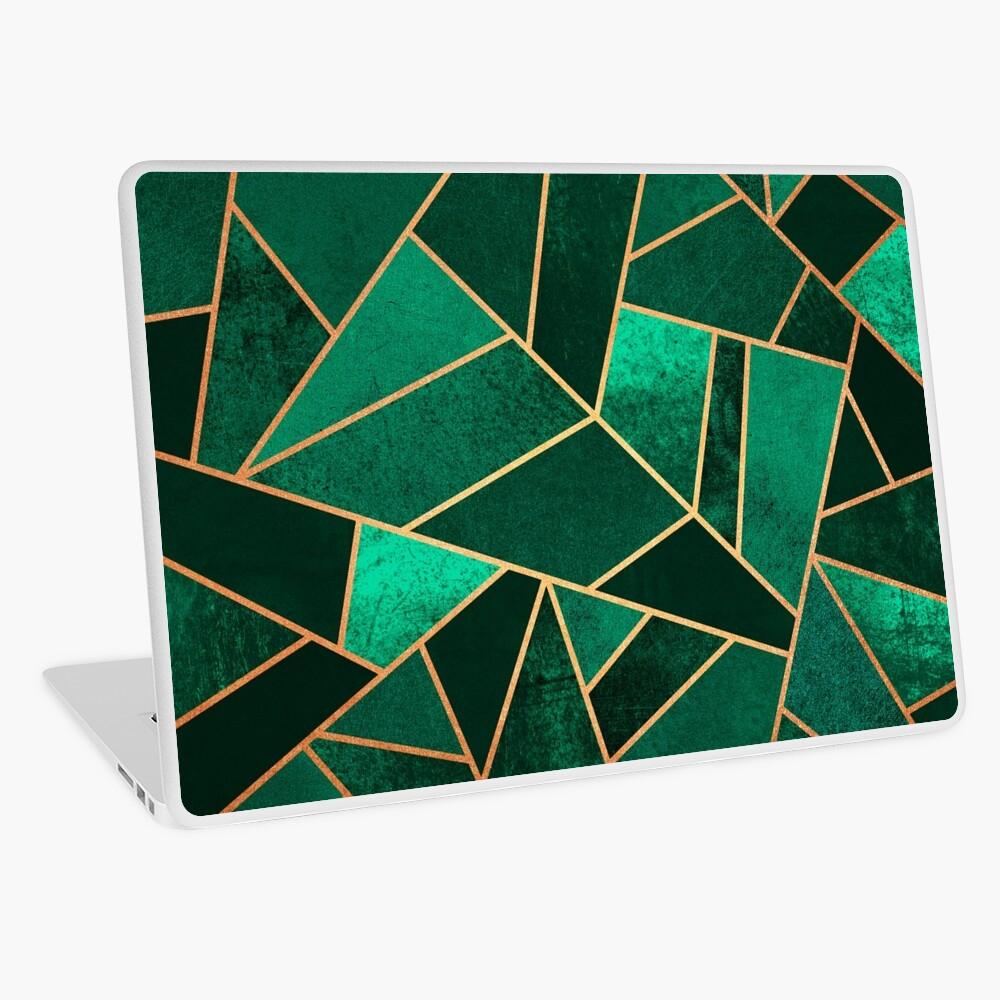Emerald and Copper Laptop Skin