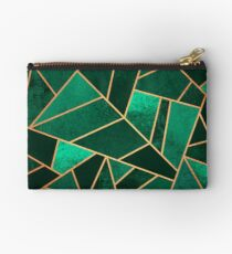Emerald and Copper Zipper Pouch