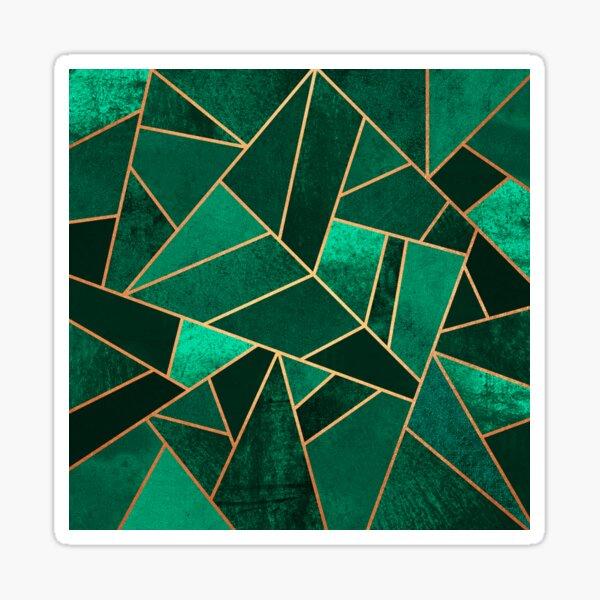 Emerald and Copper Sticker