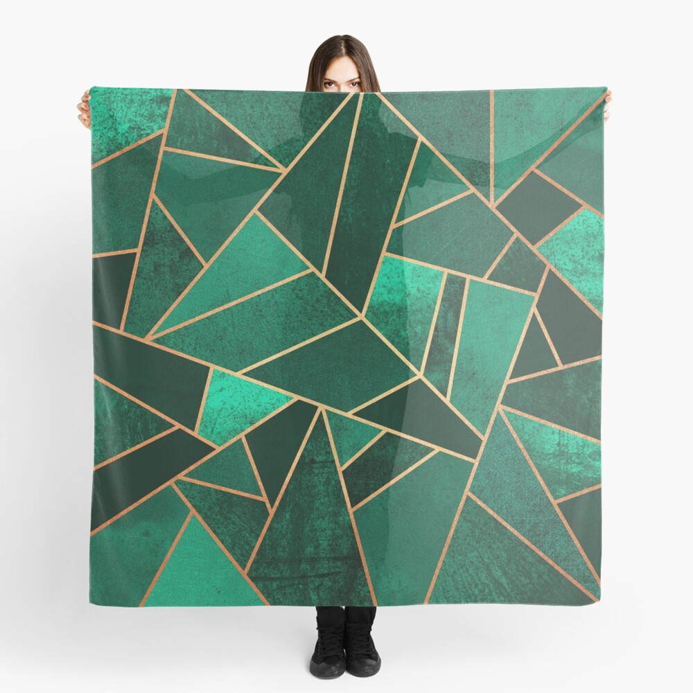 Emerald and Copper Scarf