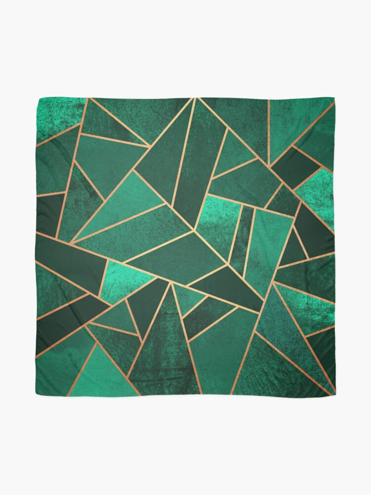 Alternate view of Emerald and Copper Scarf