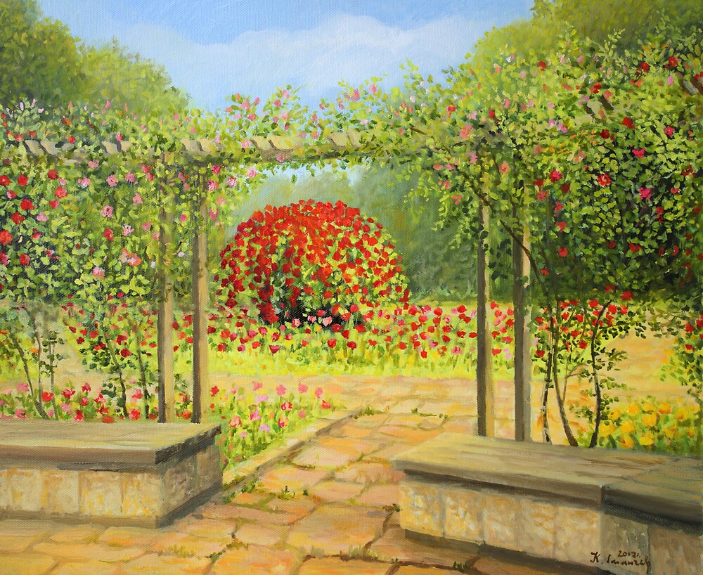 In The Rose Garden by kirilart