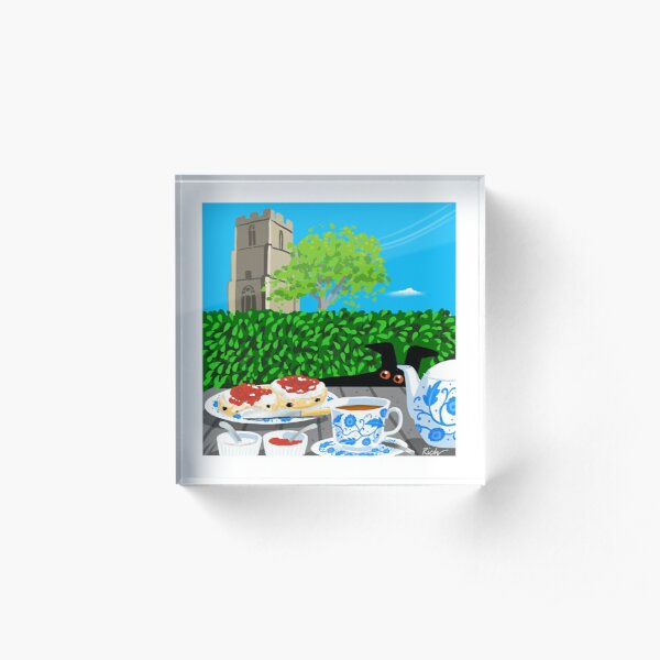 Cream Tea Acrylic Block