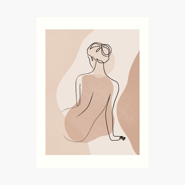 Abstract Female Nude Art Print
