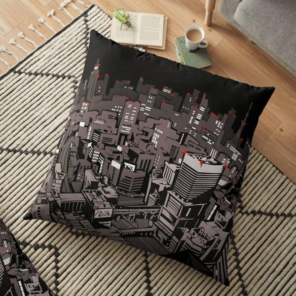 night city  Floor Pillow