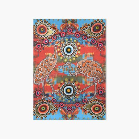 Orange and Blue Indian Inspired Pattern Art Board Print