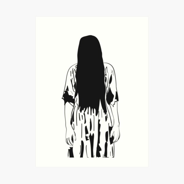 The Ring, Samara the Scary Girl Art Print