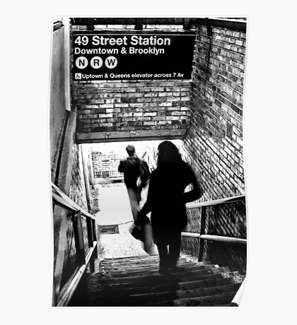 49th Street Subway Station Poster