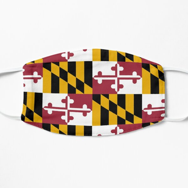 Maryland Flag Face Mask Flat Mask