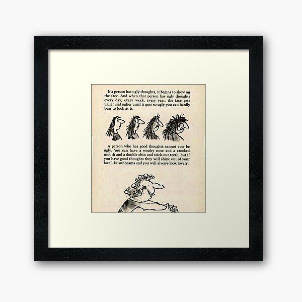 Roald Dahl the twits  Framed Art Print