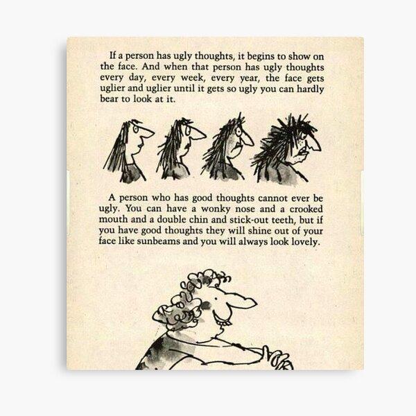 Roald Dahl the twits  Canvas Print
