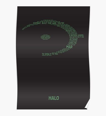Halo Typography [Green] Poster