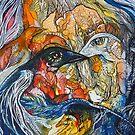 Seven birds 3 by Tatjana Larina