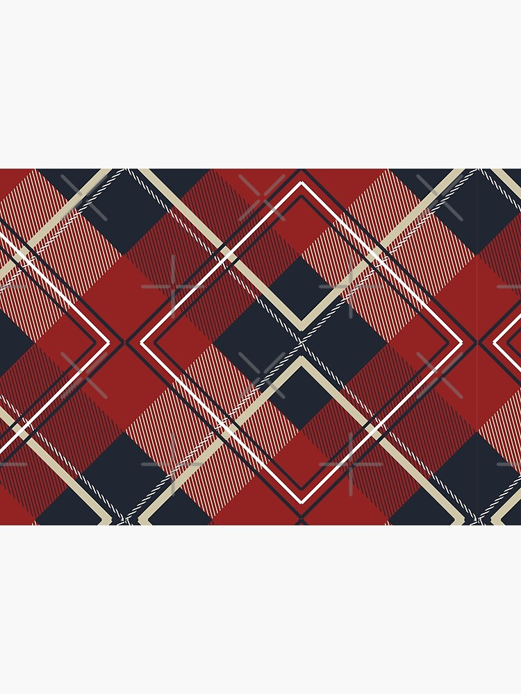 Face Mask Plaid Pattern   by fkassi10